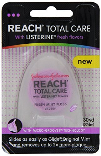 Reach Total Care Floss With Listerine, Fresh Mint(Pink), 30 Yards