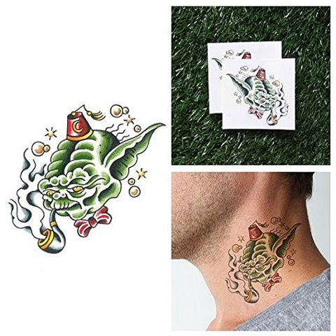 Tattify Yoda Temporary Tattoo   Party Want To? (Set Of 2)   Other Styles Available   Fashionable Tem