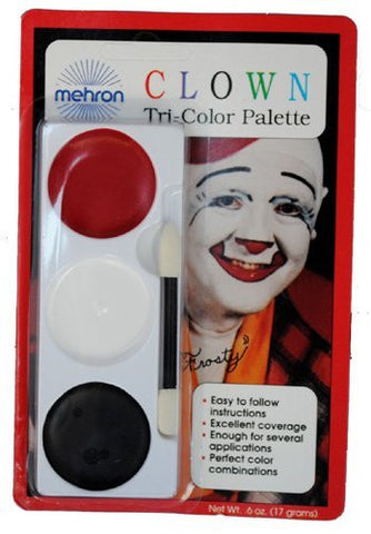 Mehron Makeup Tri Color Halloween Makeup Palette (Clown)