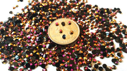 Golden Living168 Rose Gold Violet Ab Crystal 800pcs Round Jelly Rhinestone 4mm (16ss) 3 D Acrylic Na