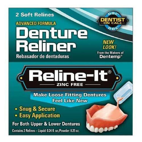 Dentist On Call Reline It, Advanced Formular Denture Reliner, Zinc Free  2 Repairs
