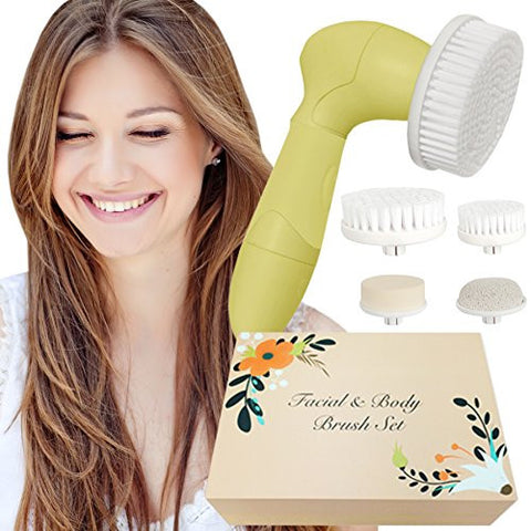 Skin Cleansing System Facial Brush & Body Care Kit   Vintage Citrus Facial Brush