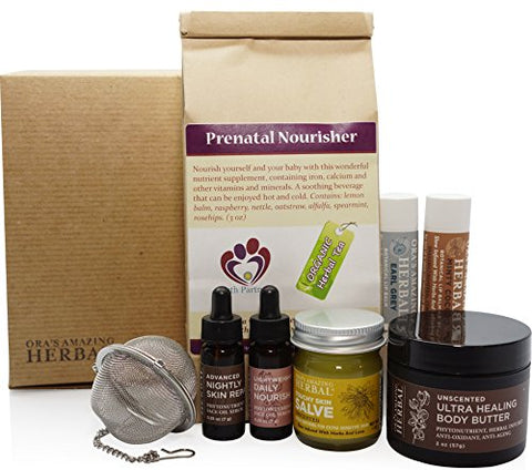 Naturally Beautiful Maternity Gift Set, Pregnancy Gift, Skin Care For Mom To Be, Holistic Expectant