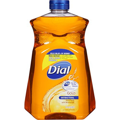 Dial Antibacterial Liquid Hand Soap Refill, Gold, 52 Fluid Ounces (Pack Of 6)