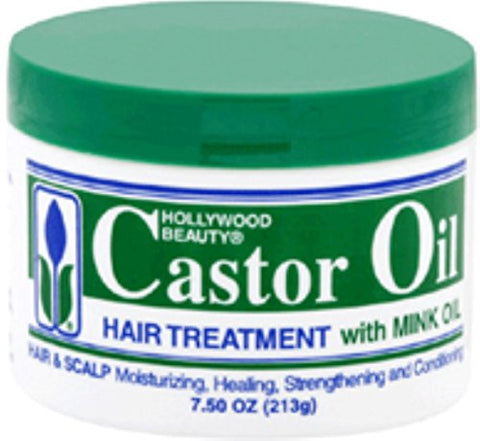 Hollywood Beauty Castor Oil Hair Treatment, With Mink 7.5 Oz (Pack Of 2)