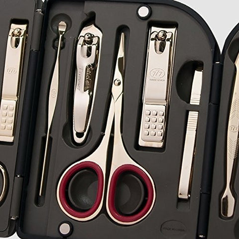 Three Seven (777) Premium Quality Gift Travel Manicure Grooming Kit Nail Clipper Set (10 P Cs, Ts 550