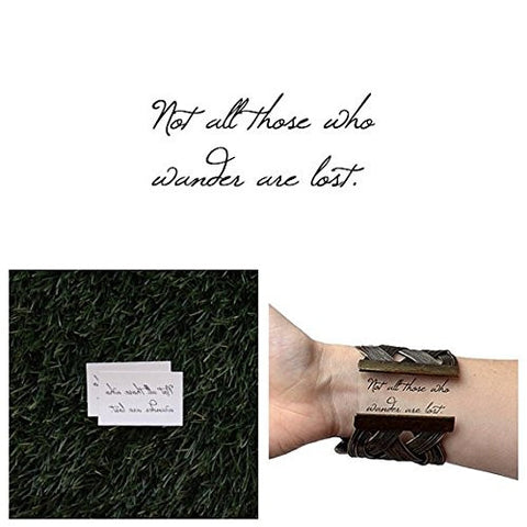 Tattify Adventurous Quote Temporary Tattoo   All That Is Gold (Set Of 2)   Other Styles Available