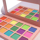 Image of Matte Eyeshadow Palette Makeup, Highly Pigmented 18 Bright Colorful Eye Shadow Palettes, Blendable Long lasting Rainbow Silky Powder Shades