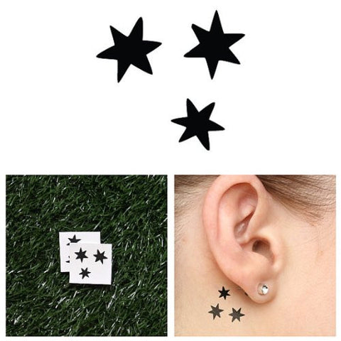 Tattify Star Temporary Tattoo   At Your Fingertips (Set Of 2)   Other Styles Available   Fashionable