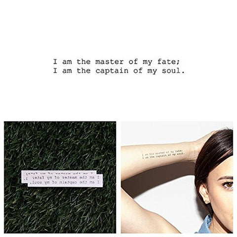 Tattify Captain Of My Soul Temporary Tattoo   Invictus (Set Of 2)   Other Styles Available   Fashion