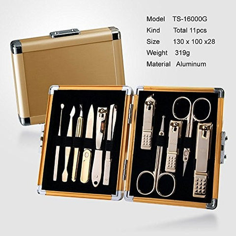 Three Seven (777) Travel Manicure Grooming Kit Nail Clipper Set (11 P Cs), Made In Korea, Since 1975.