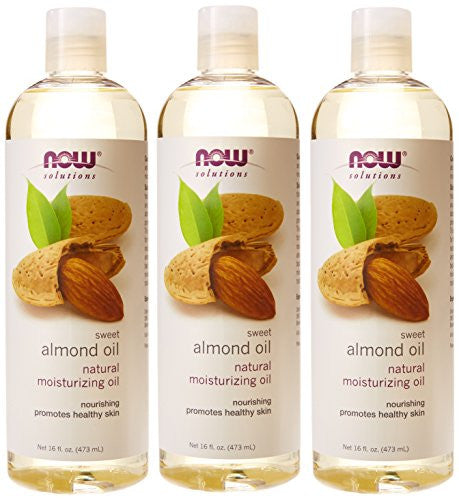 Now Foods Almond Oil 16oz (3 Pack) Total 48oz