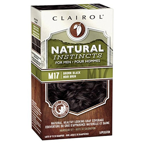 Clairol Natural Instincts Semi Permanent Hair Dye Kit For Men, Brown Black, 1 Count