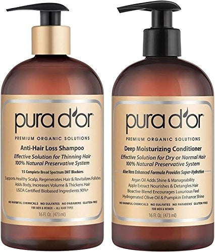 Pura Dor Gold Label Anti Hair Loss Moisturizing Combo