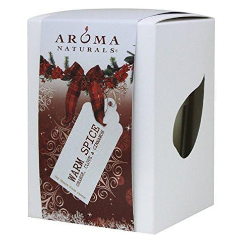 Aroma Naturals Peace Ruby Holiday Soy Square Glass Candle, Orange, Clove And Cinnamon, 6.8 Ounce