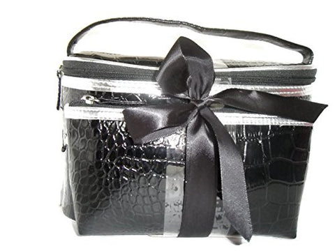 2 Piece Black Black Make Up Toiletery or Jewelry case or Bag ... b754abd9cc9ad