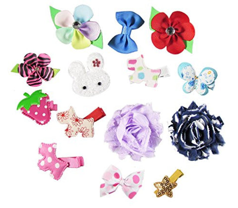 Hair Accessories Clothes, Shoes & Accessories Strict 40pcs Baby Hair Clips Girls Kids Flowers Hair Clip Bow Hairpin Alligator Clips Delicacies Loved By All