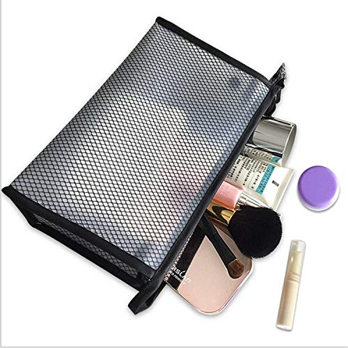 2019 New PVC Transparent Cosmetic Bag Women Waterproof Travel Make up Toiletry Bags Makeup Organizer Case 2019 New,Black