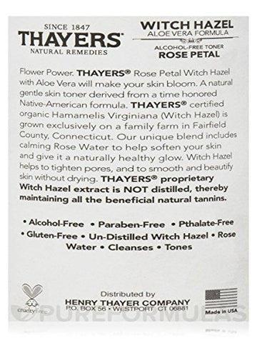 Thayers Rose Petal Witch Hazel With Aloe Vera   12 Oz.(2 Pack)