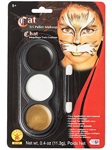 Mehron Tri Color Make Up Kit Cat/Animal