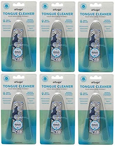 Dr. Tungs Tongue Cleaner, Stainless Steel ,6 Pack (Colors May Vary)