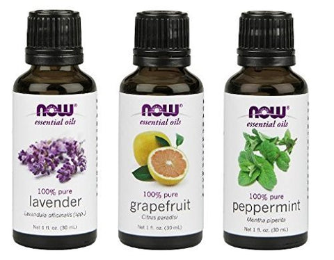 3 Pack Variety Of Now Essential Oils: Summer Fun   Lavender, Grapefruit, Peppermint