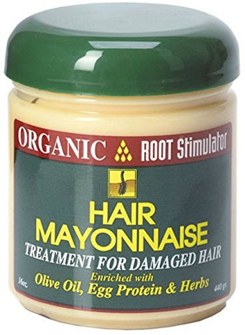 Organic Root Stimulator Hair Mayonnaise Treatment, 16 Oz (Pack Of 8)