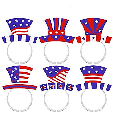5eacc132 LUOEM 4th of July Headband Patriotic Star Boppers American Flag Headbands  Independence Day Party Accessories, ...