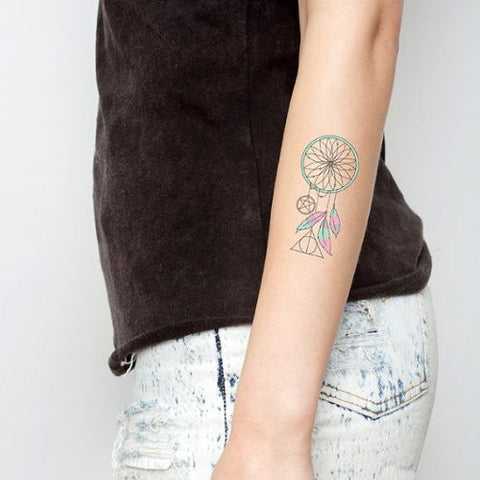 Tattify Dreamcatcher Temporary Tattoo   Pastel, Present, Future (Set Of 2)