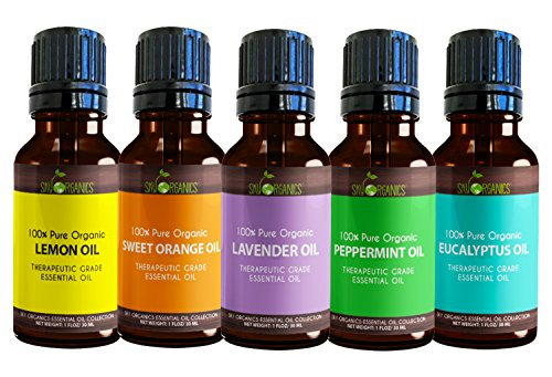 Peppermint Essential Oil By Sky Organics (1oz) 100% Natural, Pure Therapeutic Grade Peppermint Oil F