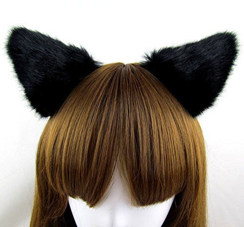 Hot Sweet Lovely Anime Lolita Cosplay Fancy Neko Cat Ears Hair Clip Black