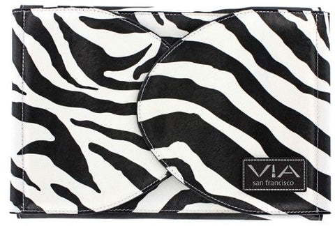 Shear Folio Case   Black/White Zebra