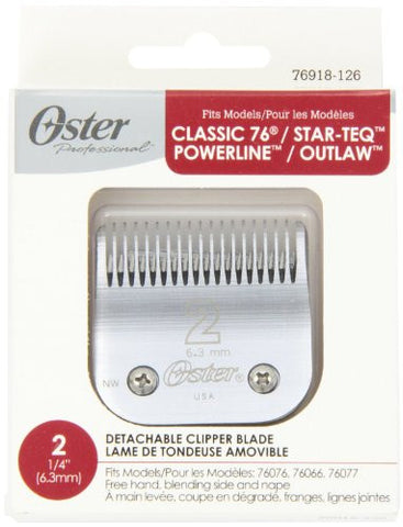 Oster Agion Hair Clipper Blade  Size 2  For Classic 76, Star Teq, Power Teq & Power Line Clippers By