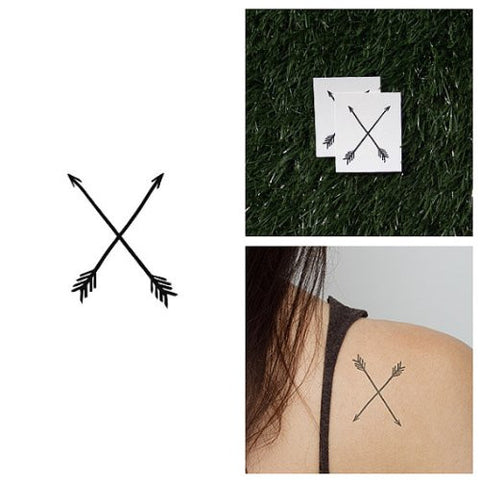Tattify Arrows Temporary Tattoo   Straight Shooter (Set Of 2)   Other Styles Available   Fashionable
