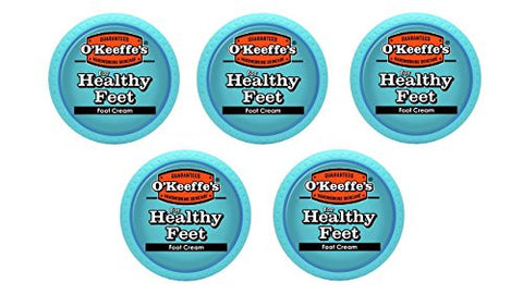 O'keeffe's For Healthy Feet Foot Cream, 3.2 Oz., Jar,  (Pack Of 5)