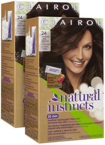 Clairol Natural Instincts Hair Color, Medium Cool Brown [5 A] 1 Ea