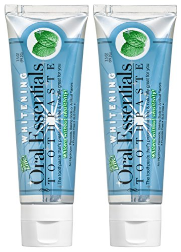 Oral Essentials Teeth Whitening Toothpaste Without Sensitivity (Pack Of 2) 3.5 Oz. Certified Non Tox