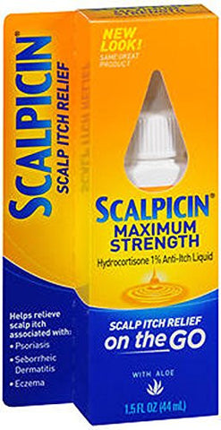 Scalpicin Maximum Strength Scalp Itch Liquid Treatment  For Relief From Itchy Scalp, Psoriasis, Ecze
