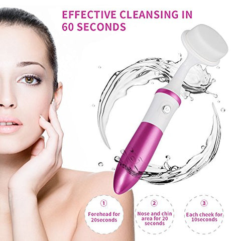 Mother's Day Gift Kingdomcares Facial Cleansing Brush Cleansing System With Facial Brush Electric Vi