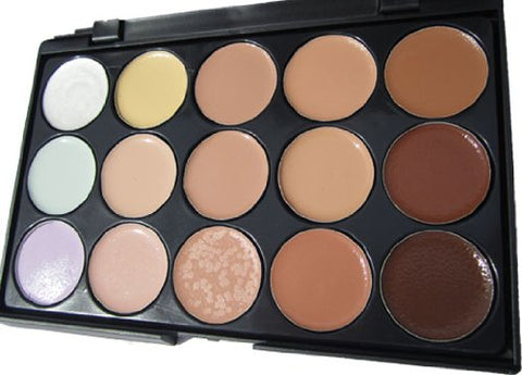 Flirtini 3 D Look Cream Foundation And Camouflage Concealer 15 Color Makeup Palette. Versatile Uses F