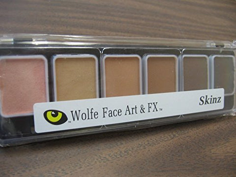 Wolfe 6 Color Palette/Face Paint Kit (Skinz)