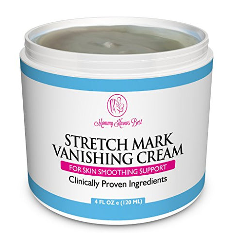 Stretch Mark Cream For Pregnancy & Scar Removal   100% Retinol Free   Mommy Knows Best Maternity Str