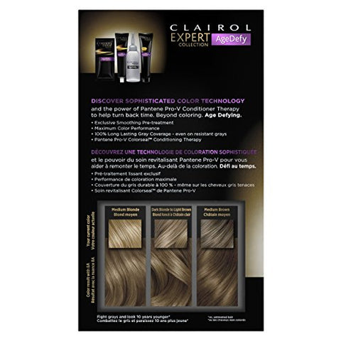 Clairol Age Defy Expert Collection 8a Medium Ash Blonde, 1 Kit