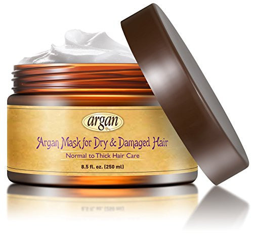 Dry Damaged Hair Deep Conditioner Mask   Normal To Thick Coarse Hair Care Moroccan Argan Masque 8.5