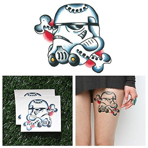 Tattify Stormtrooper Temporary Tattoo   Stormy Weather (Set Of 2)   Other Styles Available   Fashion