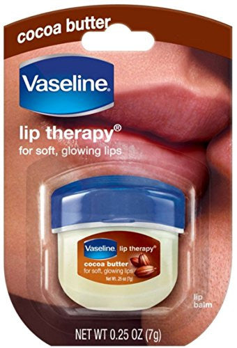 Vaseline Lip Therapy Cocoa Butter, .25 Oz (Pack Of 6)