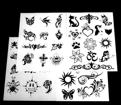 Henna City All Natural Jagua Tattoo Kit   1 Ounce, For Temporary Tattoos, Fake Tattoos, Semi Permane