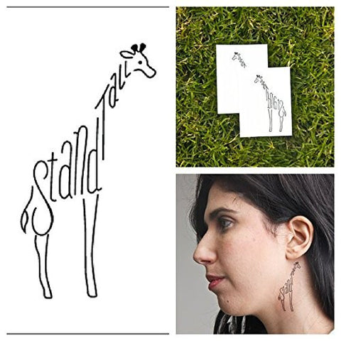 Tattify Giraffe Temporary Tattoo   Power Animal (Set Of 2)