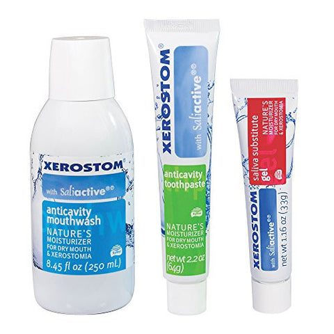 Xerostom Drymouth Anticavity Mouthwash, Xerostom Drymouth Anticavity Drymouth Toothpaste, And Xerost