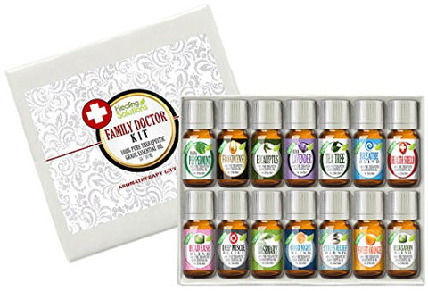 Family Doctor (14) Essential Oil Set 100% Pure, Best Therapeutic Grade   14/10m L